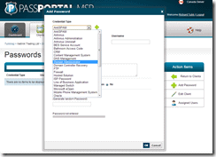 PassPortal MSP Add Password Screenshot